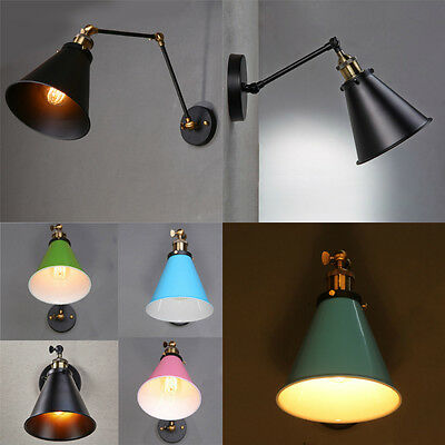 Vintage Style Industrial Swing Arm Wall Sconce Adjustable Retro Light Wall Lamp