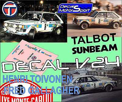 DECAL TALBOT SUNBEAM LOTUS H.TOIVONEN R.PORTUGAL 1981 2nd 02