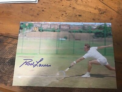 Rod Laver Tennis Australian tennis signed 6x4 Inch Photo With COA