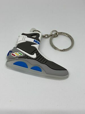 Silicone Back To The Future Glow In The Dark Nike Air Max Keychain Keyring