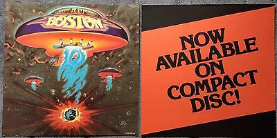 Boston Self Titled (CD Release) '86 RARE promo 12 x 12 poster flat