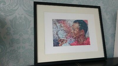 Tiger Woods Photo Mosaic Signed and Framed Rare