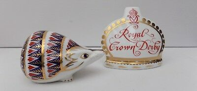 Royal Crown Derby Imari Paperweight Porcupine/hedgehog Gold Stopper