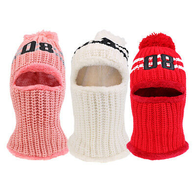 3 Pieces Warm Women Winter Knitted Protection Ear Cap Rider Beanie Hat
