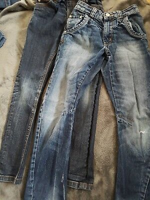 2 pairs of boys jeans aged 8-9 years very good condition