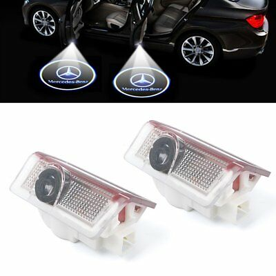 2x Car LED Door Step Welcome Projector light Logo for Mercedes Benz ML GL C W212
