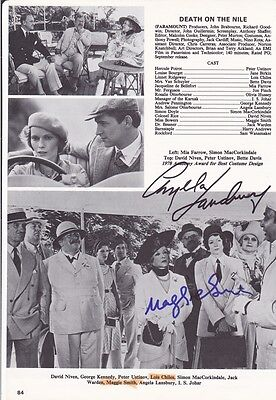 Angela Lansbury & Maggie Smith - Hand Signed Movie Book Page