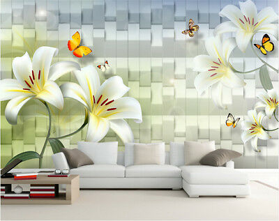 3D Weave Style Lily 97 Wall Paper Murals Wall Print Wall Wallpaper Mural AU Kyra