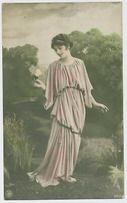 Pretty young lady / girl postcard, early 1900's; NPG