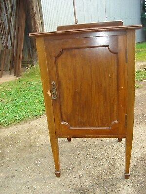 Solid Walnut Antique chamber pot cabinet, night cupboard/cabinet