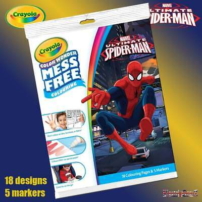 Crayola Ultimate Spider-Man Color Wonder Mess Free Colouring Book & Pens Set