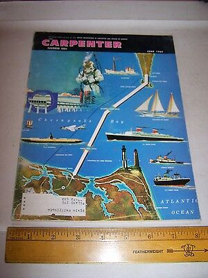 1964 UNITED BROTHERHOOD OF CARPENTERS & JOINERS OF AMERICA Magazine June