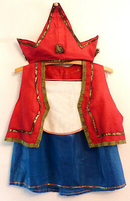 Antique VINTAGE 1940s Jester CROWN Princess CHILD Halloween Handmade Costume #4
