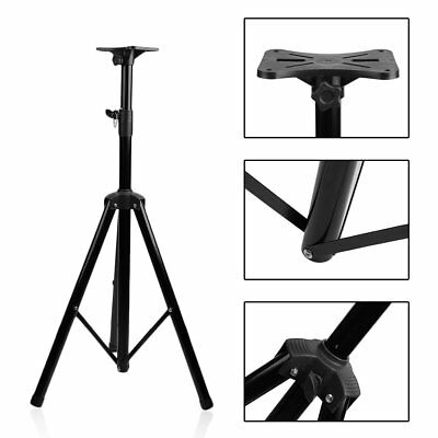With Tray Portable Heavy Duty Tripod DJ PA Speaker Stands Adjustable Height B2