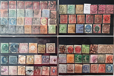 early World mix Collection of used & unused (87) Stamps