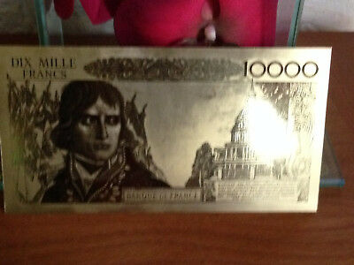 1 billet de 10000frs de 1958 or 24k