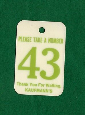 Kaufmann's Department store bakery tag Pittsburgh Pennsylvania