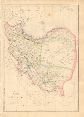 1863  Large Antique Map - Dispatch Atlas- Persia, Iran