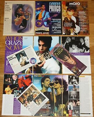 PRINCE The Artist UK-USA clippings 1990s/00s photos magazine articles cuttings