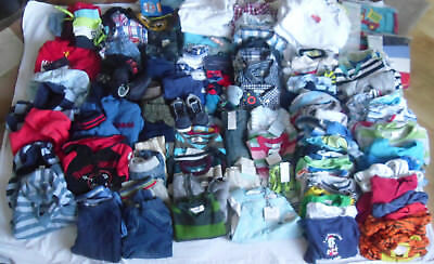 Job Lot Bulk Used/Tagged 3-12 Months Boys Clothes Over 100 Items Gap Disney +++