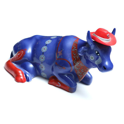 """Cow Parade #9180 - """"Even Cowgirls Get the Blues"""" (Retired) 2001 Figurine."""