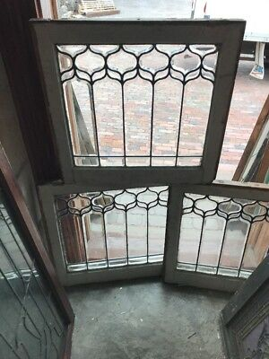 Sg 1584 3Available Price Each Antique All Beveled Tulip Window 24.5 x 23 H
