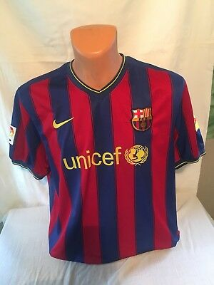 Maillot Foot Ancien Barcelone Numéro 10 Messi Taille XL