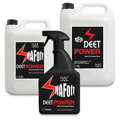 New Horse Cob Pony NAF Off Deet Power Fly Insect Repellent Spray And Refill