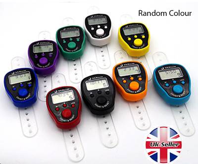 Digital Finger Tally Counter with Light Hand Held Knitting Row counter CLICKER