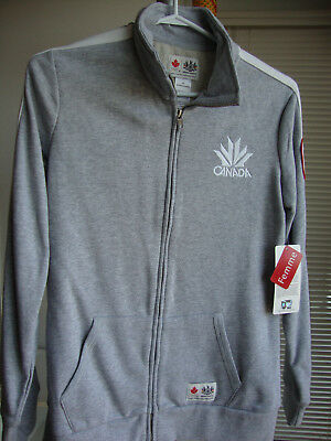 Canada Winter Olympic Hbc Full Zip Jacket Women Size S - Grey