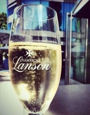 Lanson Champagne Crystal Flutes X 2 New Unboxed