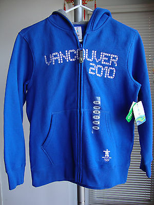 Vancouver 2010 Olympic Hbc Canada Full Zip Hoodie Jacket Boys Size 7/8