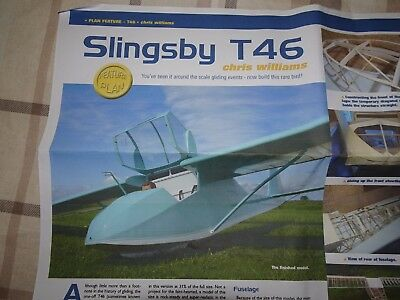 "Plans & Article for 1/3rd Scale 216"" Span Slingsby T46 Glider - Never Used"