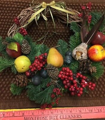 "12"" Holiday Fruit And Berry Wreath"