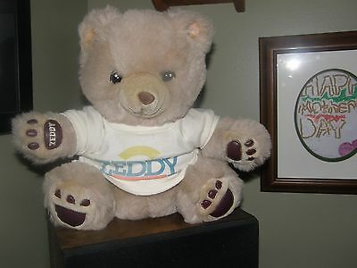 Vintage Plush ZEDDY Teddy Bear Zellers Department Store  Mascot