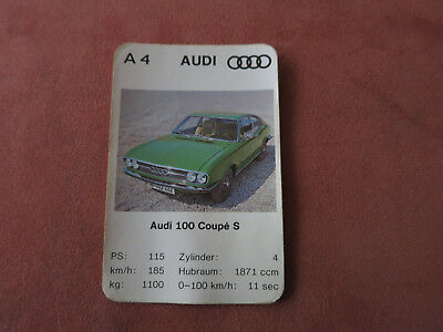 Audi 100 Coupe S   Spielkarten KEIN PAY PAL !