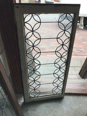 Sg 1600 Antique Leaded Glass Transom Window 19 1/2 X 40.5