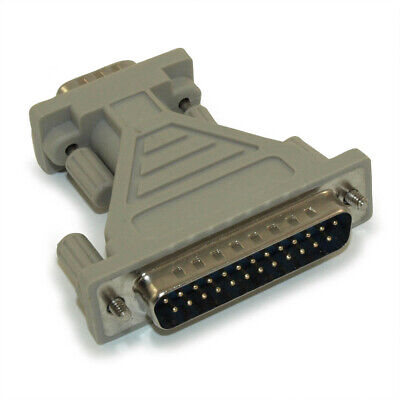 DB9 Male to DB25 Male  Adapter  (Serial Port) Molded