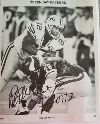 Green Bay Packers Autographed Photo Reggie White #92 Collectible Fan Memorabilia