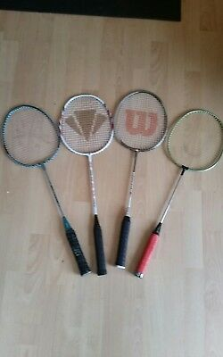 Badminton rackets set x 4 with covers. Match quality.
