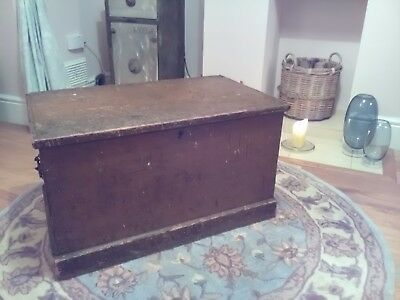 Antique solid pine blanket box toy box coffee table