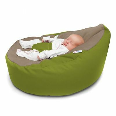 Awe Inspiring Gaga Cuddlesoft Baby Bean Bag With Safety Harness Olive Pabps2019 Chair Design Images Pabps2019Com