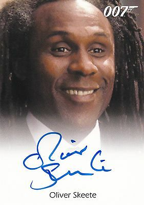 James Bond: Archives 2014 Edition. Oliver Skeete Autograph Card by Rittenhouse