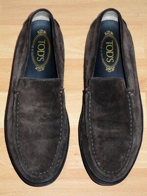 Tod's Loafer Driving Shoes 40 Braun Wie Neu Wild Leder Suede Tods Gommino