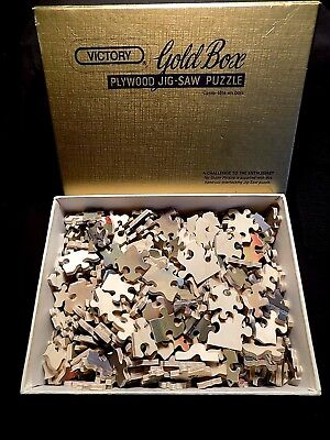 Victory Gold Box - 400 Piece Wooden Jigsaw Puzzle - Pride Of Wales - Excellent