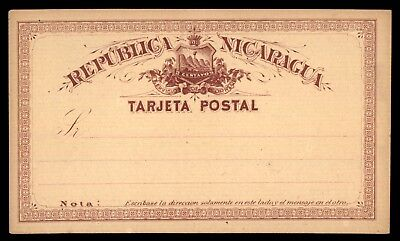 Mayfairstamps Nicaragu 2c Maroon Mint classic Postal Stationery Card