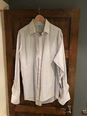 Charles Tyrwhitt Double cuff formal shirt, 17 collar, 35 in sleeve *non iron*