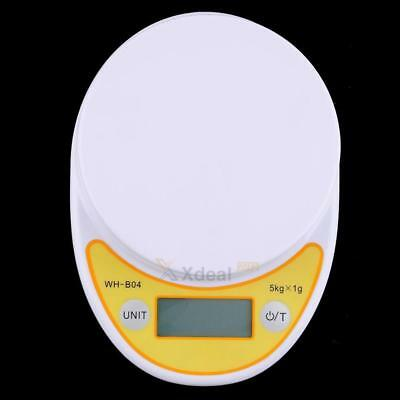 5kg/1g White Mini Digital LCD Electronic Kitchen Cooking Food Weighing Scales
