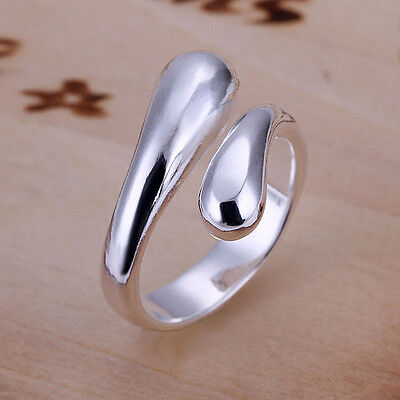 Free Fashion Jewelry Lady/Womens Solid 925Sterling Silver Ring Jewelry Xmas Gift