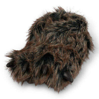 Bear Claw Slippers Size Toddler 8-9 Brown